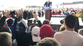 Attempted attack on Donald Trump at Dayton Ohio March 12, 2016
