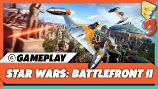 Star Wars: Battlefront II Multiplayer Gameplay Reveal: Assault on Theed | EA Play at E3 2017