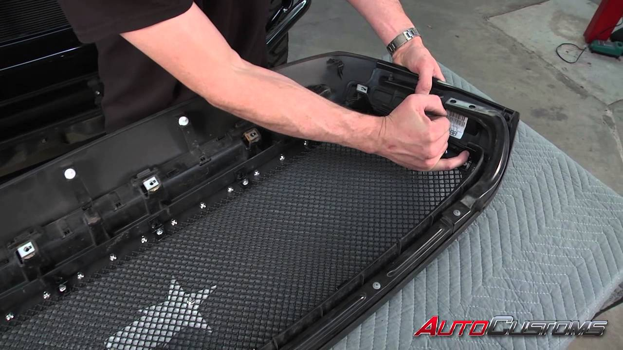 nFab M1 Grille Install on 2011 Toyota Tundra - AutoCustoms.com - YouTube