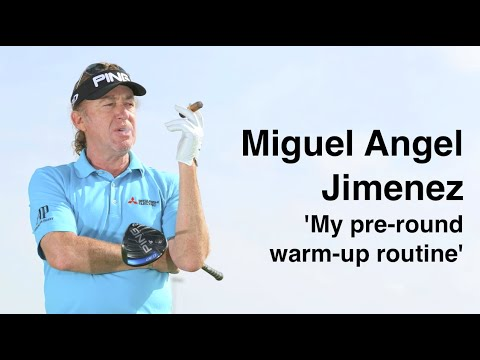 All NEW Miguel Angel Jimenez warm up routine