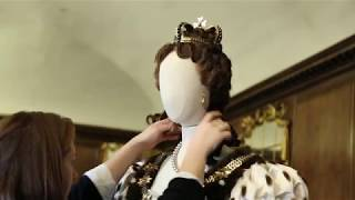 The Favourite costume display at Kensington Palace