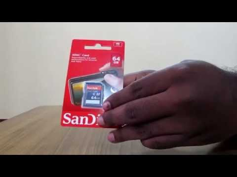 Unpacking of SanDisk 64GB class4 SDXC flash memory Card from Amazon India