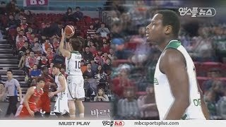 3points shot of DB made from hands of the Burton | Elephants vs Promy | 20171119 | 2017-18 KBL