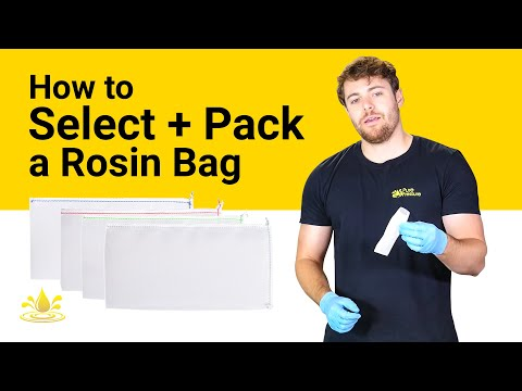How To Select and Pack a Rosin Bag