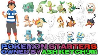 Pokémon Starters Owned by Ash