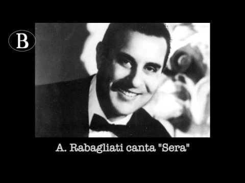 """Pippo Barzizza e i suoi cantanti. Alberto Rabagliati in """"Sera"""". Orchestra Cetra, 1940"""