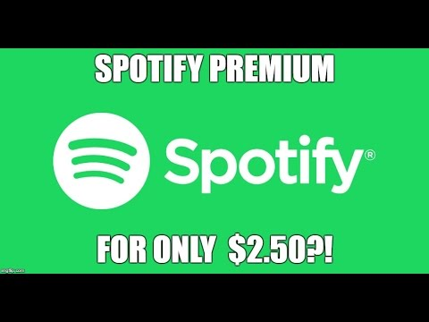 Spotify Premium for only $2.50?! EASY TRICK