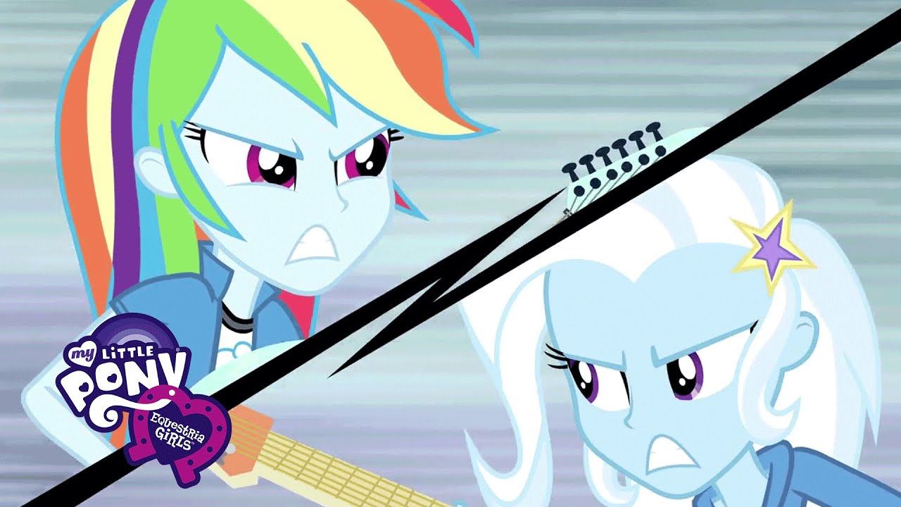 Rainbow Rocks Rainbow Dash And Trixie Rainbow Dash Trixie