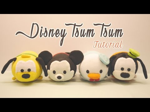 DIY Disney Tsum Tsum Plushies - Mickey Mouse, Donald Duck, Goofy & Pluto (for Sweetorials Auditions)