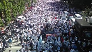 Aksi 212 Belas Islam 3 di Makassar 20.000 peserta longmarch