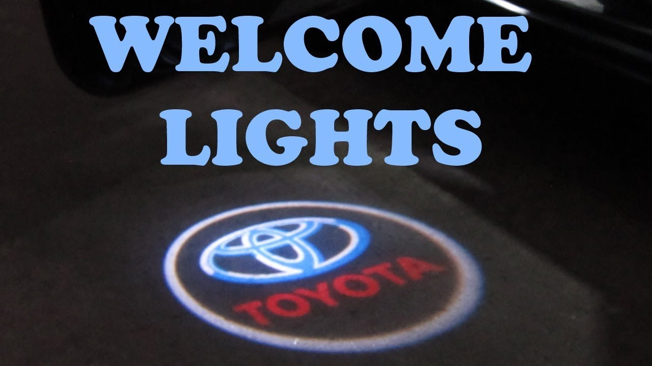 door welcome logo lights installation