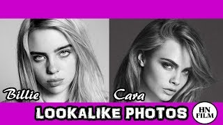 Photos that makes Billie Eilish and Cara Delevingne Lookalike (LOOKALIKE SERIES)