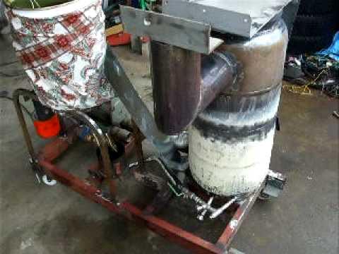 自作廃油ストーブのテスト NO5