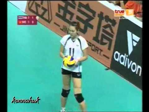 2010 AVC Women's Volleyball '' Thailand vs Vietnam ''Set 1 1/3