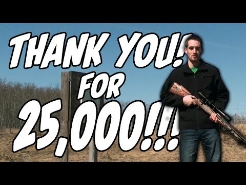 The .17HMR Quarter Shot! Thank you for 25.000 Subscribers!!