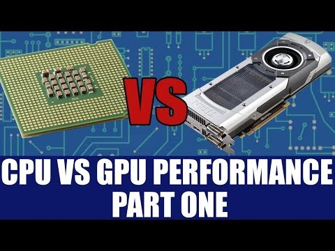 CPU Vs GPU Performance - Why GPU's Run Parallel Code & Are Faster Than CPU Part 1