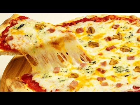 Классическая пицца на тонком тесте.
