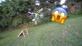 BOUGHT A DIRT BIKE AND TRIED SENDIN IT!