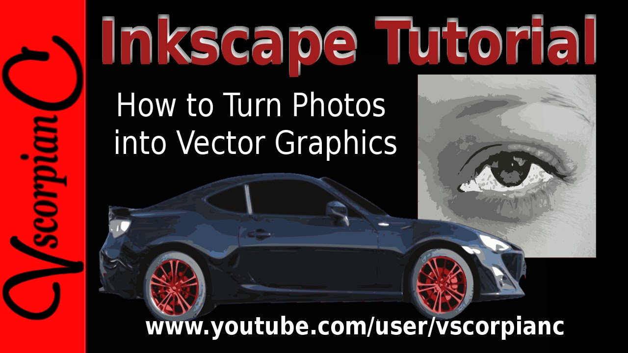 inkscape tutorial how to convert image to vector graphics  trace bitmap  by vscorpianc