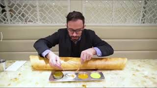 Giant Masala Dosa in New York - Foreigners funny reaction - PRIDE OF INDIA
