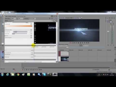 วิธีการทำ ไตเติล (Intro)   Linear Blur + SFX Text   2   Sony Vegas Pro