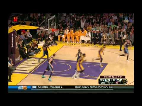Kobe Bryant 38 points vs Denver Nuggets full highlights round 1 game 2 Nba playoffs 2012.04.01