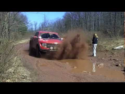 HILARIOUS!!! FORD RAPTOR SPLASHES MUD ALL OVER A GIRL!!!! 326597 view