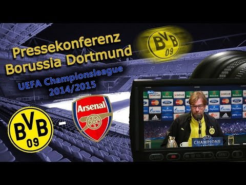 UEFA-Championsleague: Borussia Dortmund - Arsenal London; Pk mit Jürgen Klopp und Henrikh Mkhitaryan