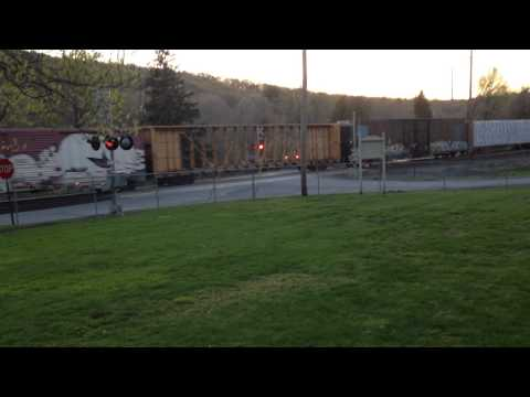 CSX Mixed Freight Train With Union Pacific Trailing West Park NY