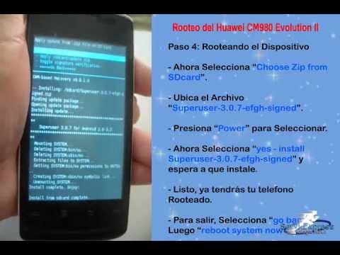 Rootear Huawei CM980 Evolution II