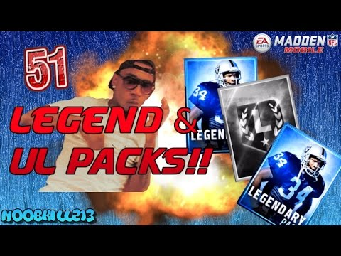 Madden Mobile 16 HUGE 51 Legend & UL Pack Opening!! ELITES EVERYWHERE!!!