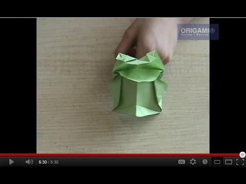 Лягушка оригами квакает