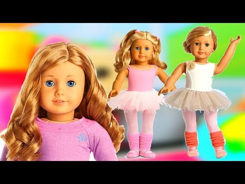 Baby doll Morning Routine. Baby Doll Dress Up & Doll Hair Style. American Girl Doll Ballet Dress