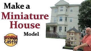 How to Make a Miniature House Model with foam board