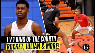 1 v 1 King Of The Court!! Rocket Watts, Julian Newman & #1 Ranked PG GO AT IT!