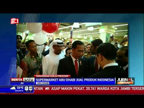 Jokowi Blusukan di Salah Satu Supermarket Abu Dhabi