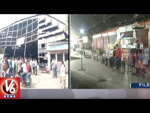 Nizam-era Mississipi Hangar Used as Bus Shelter Collapses | Hyderabad | V6 News