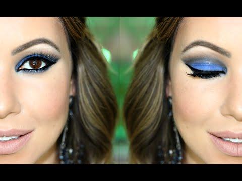Maquiagem Azul Royal | Esfumado Fácil para Noite