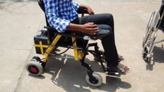 Garuda -  Most affordable joystick operated motorised wheelchair in India