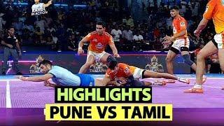 Pro Kabaddi 2019 Highlights(Hindi): Tamil Thalaivas VS Puneri Paltan   Sports Tak