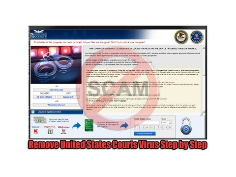 Remove United States Courts Virus Step by Step