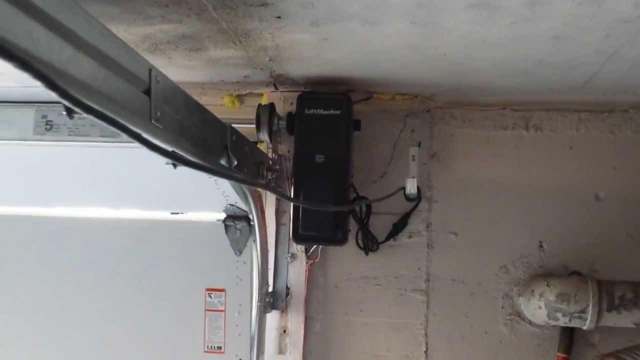 Lift Master 8500 Side Mount Wall Mount Opener Youtube