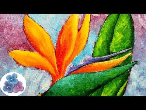 Como pintar flores pintura al oleo diy flowers oil - Como pintar un cuadro moderno ...