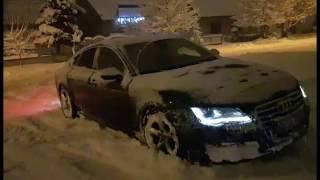 Audi A7 quattro in snow