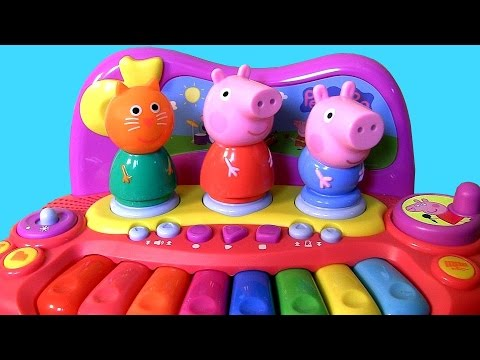 Peppa Pig Piano with George Pig & Candy Cat Learn to Play Music & Songs with Peppa's Friends