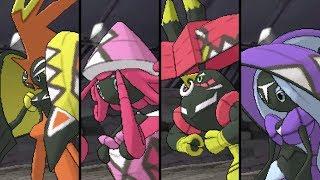 Pokemon Ultra Sun and Ultra Moon: VS All Tapu Legendaries - Battles and Locations