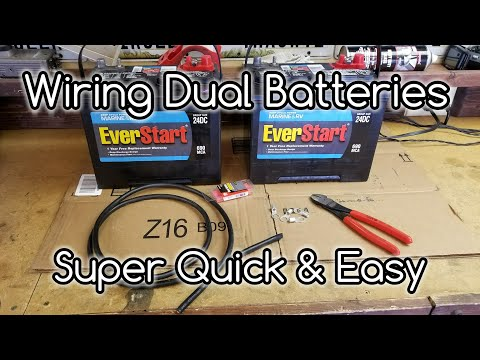 How to Wire Dual Camper Batteries🔋In Parallel
