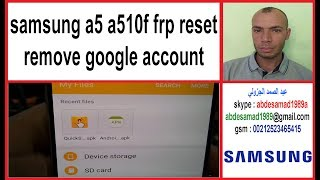 samsung a5 a510f frp reset 2017 remove google account