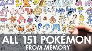 DRAWING ALL 151 POKEMON (FROM MEMORY!)
