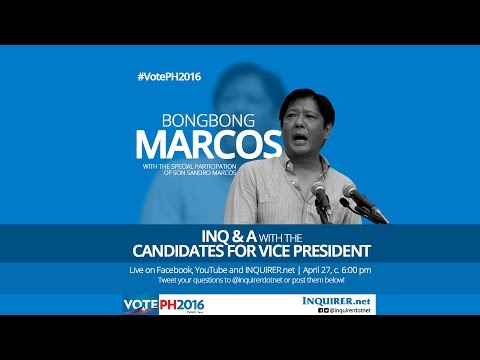 INQ & A with Bongbong Marcos